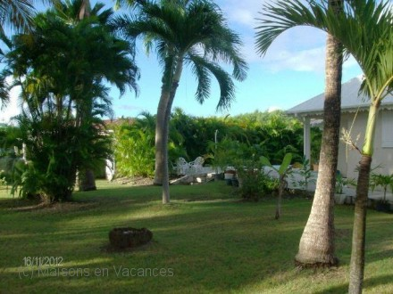 The garden of the holiday rental Villa at Saint-François ,Guadeloupe