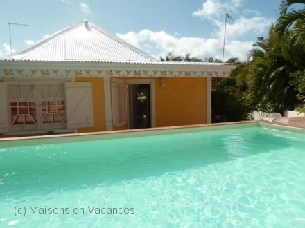 The villa of the holiday rental Maison jumelée at Saint-François ,Guadeloupe