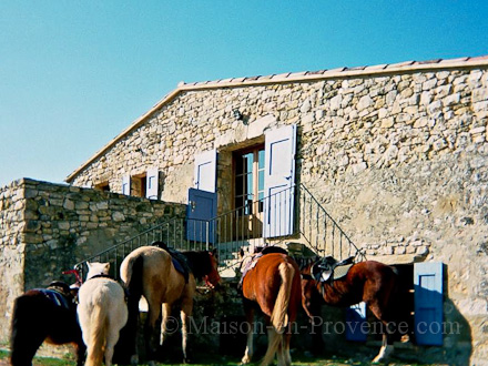 Provençal stone-built detached house in Caseneuve