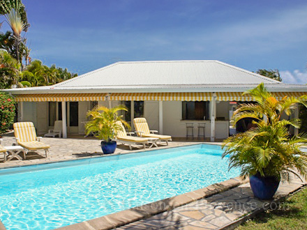 The house of the holiday rental Villa at Saint-François ,Guadeloupe
