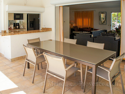 The dining room of the holiday rental Villa at Saint-François ,Guadeloupe