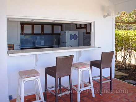 The bar of the holiday rental Villa at Saint-François ,Guadeloupe