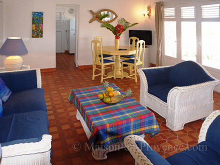 The living room of the holiday rental Villa at Saint-François ,Guadeloupe