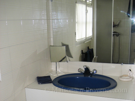 A shower room of the holiday rental Villa at Saint-François ,Guadeloupe