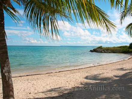 The beach of the holiday rental Villa at Saint-François ,Guadeloupe