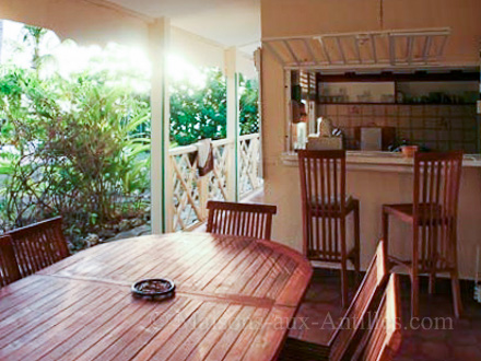 The terrace of the holiday rental Villa at Saint-François ,Guadeloupe