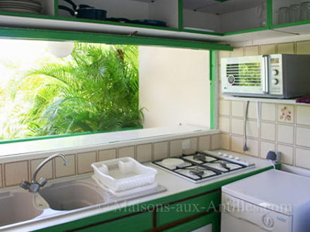 The kitchen of the holiday rental Villa at Saint-François ,Guadeloupe