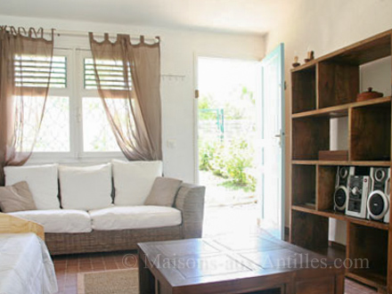A sitting room of the holiday rental Villa at Saint-François ,Guadeloupe