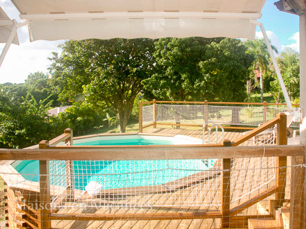 The swimming pool of the holiday rental Villa at Sainte-Anne ,Guadeloupe