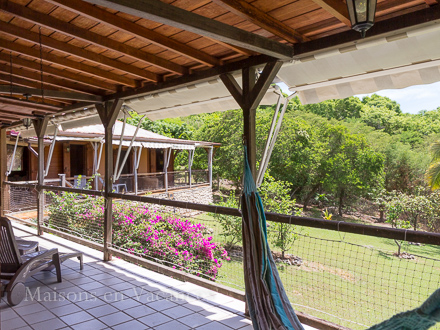 The terrace of the holiday rental Villa at Sainte-Anne ,Guadeloupe