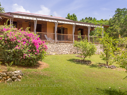 The villa of the holiday rental Villa at Sainte-Anne ,Guadeloupe