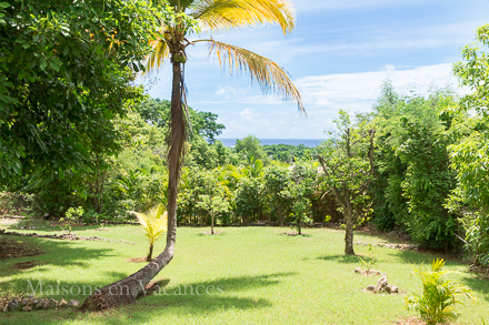 The view of the holiday rental Villa at Sainte-Anne ,Guadeloupe