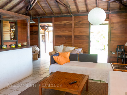 The living room of the holiday rental Villa at Sainte-Anne ,Guadeloupe