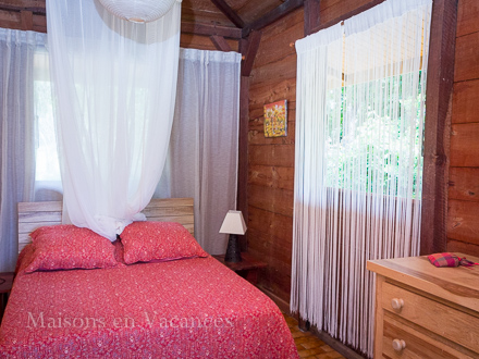 A bed room of the holiday rental Villa at Sainte-Anne ,Guadeloupe