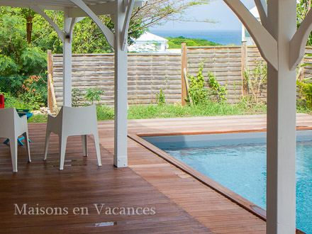 The sea view of the holiday rental Villa at Saint-François ,Guadeloupe