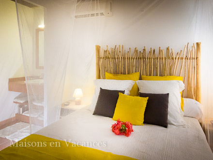 A bed room of the holiday rental Villa at Saint-François ,Guadeloupe